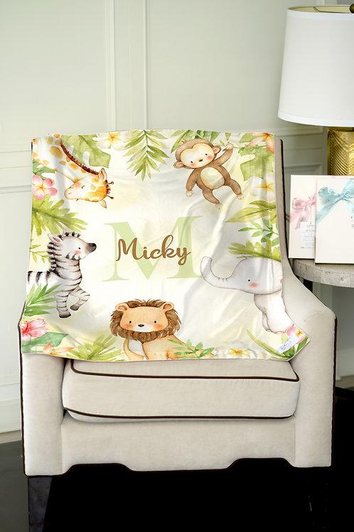Nap with Me ผ้าห่มเด็กสั่งพิมพ์ชื่อ | N10-Jungle