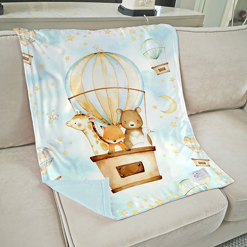 Nap with Me ผ้าห่มเด็กพร้อมส่ง | S1-Hot Air Balloon Boy :: Ready-to-ship