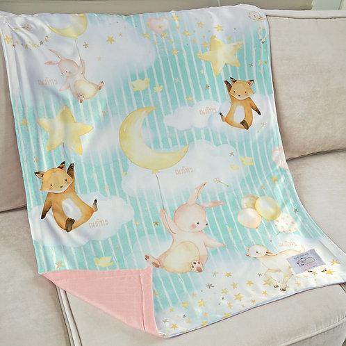 Nap with Me ผ้าห่มเด็กสั่งพิมพ์ชื่อ | N6-Sky
