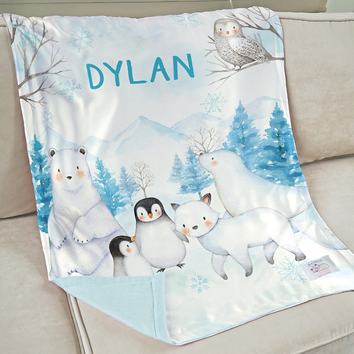 Nap with Me ผ้าห่มเด็กสั่งพิมพ์ชื่อ | N15-Arctic Baby
