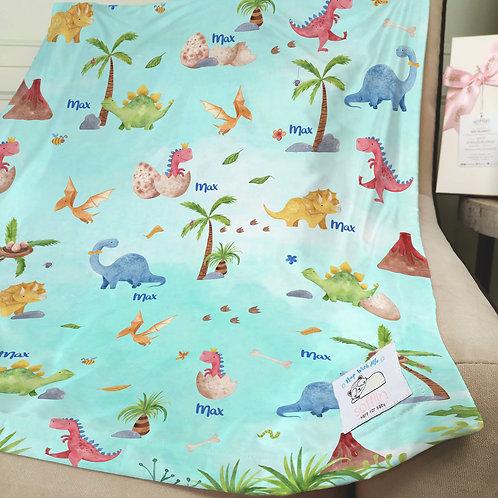 Nap with Me ผ้าห่มเด็กสั่งพิมพ์ชื่อ | N8-Dinosaur