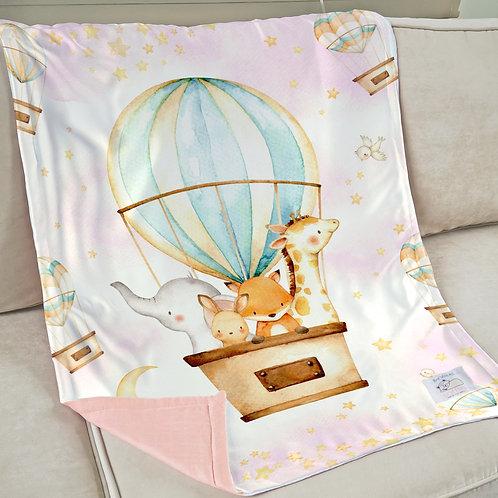 Nap with Me ผ้าห่มเด็กพร้อมส่ง | S2-Hot Air Balloon Girl :: Ready-to-ship