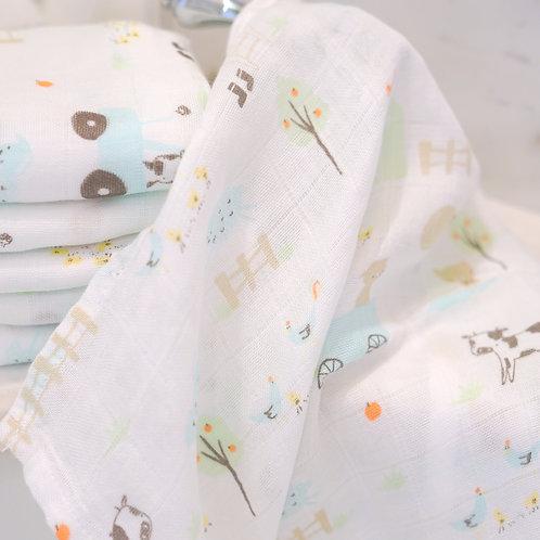 ผ้าอาบน้ำมัสลินใยไผ่ S - Barnyard