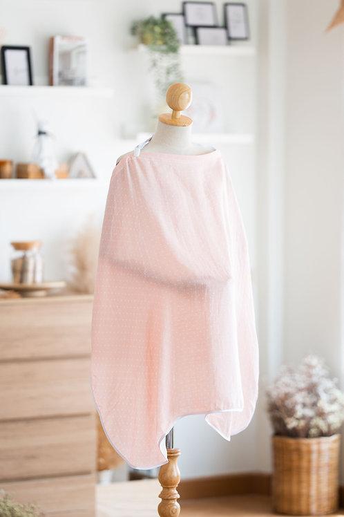 ผ้าคลุมให้นมมัสลินใยไผ่ - Dotty Pink
