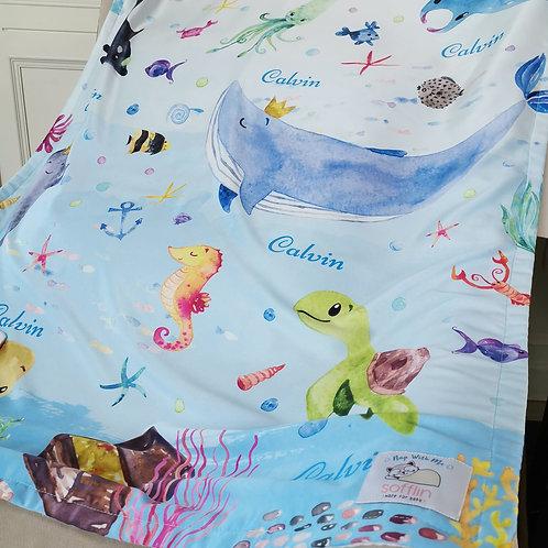 Nap with Me ผ้าห่มเด็กสั่งพิมพ์ชื่อ | N2-Ocean Boy