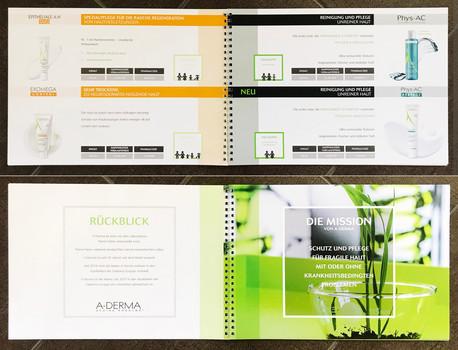 Brochure de présentation pour A-DERMA