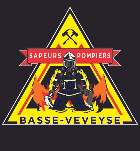 Redesign - logo pompiers Basse-Veveyse