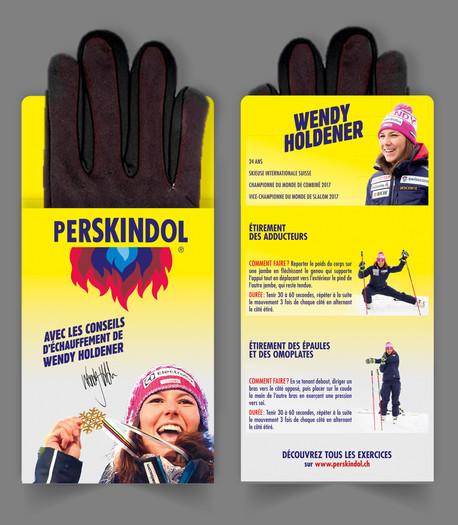 Porte-gants avec Wendy Holdener pour Perskindol