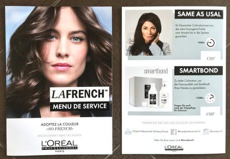 """""""Menu de Service"""" pour L'Oréal Professionel"""