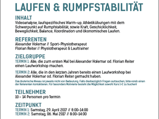 Lauf- / Stabilisationsworkshop Termine