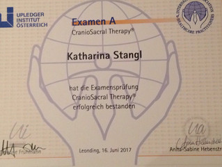 Katharina Stangl besteht CranioSacral Examen A