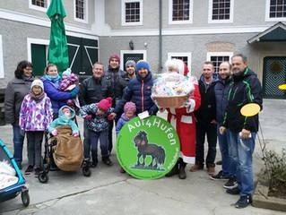 Spendenübergabe und Weihnachtsfest