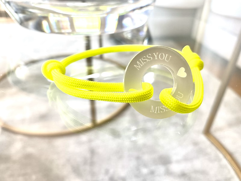Miss you -stylisches Armband mit Gravur