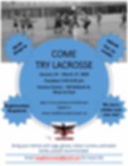 winter 2020 try lacrosse camp ad