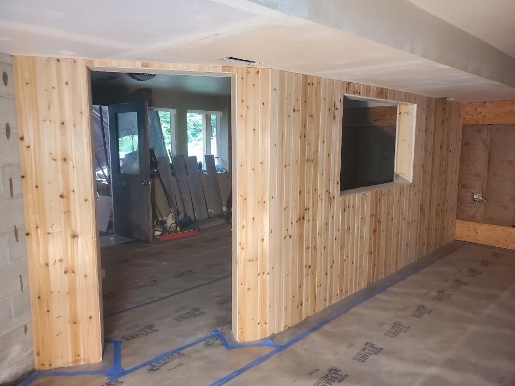 Custom Sound Studio walls going up