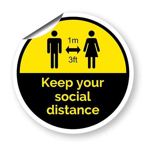 """""""Keep your social distance"""" roundel (Chevron Collection)"""