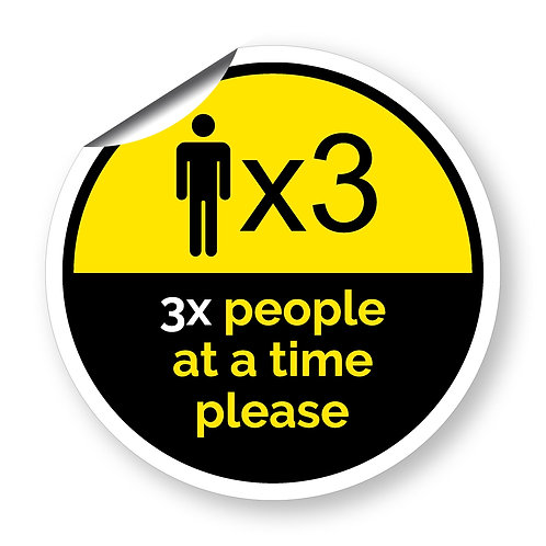 """3 people at a time"" roundel (Chevron Collection)"