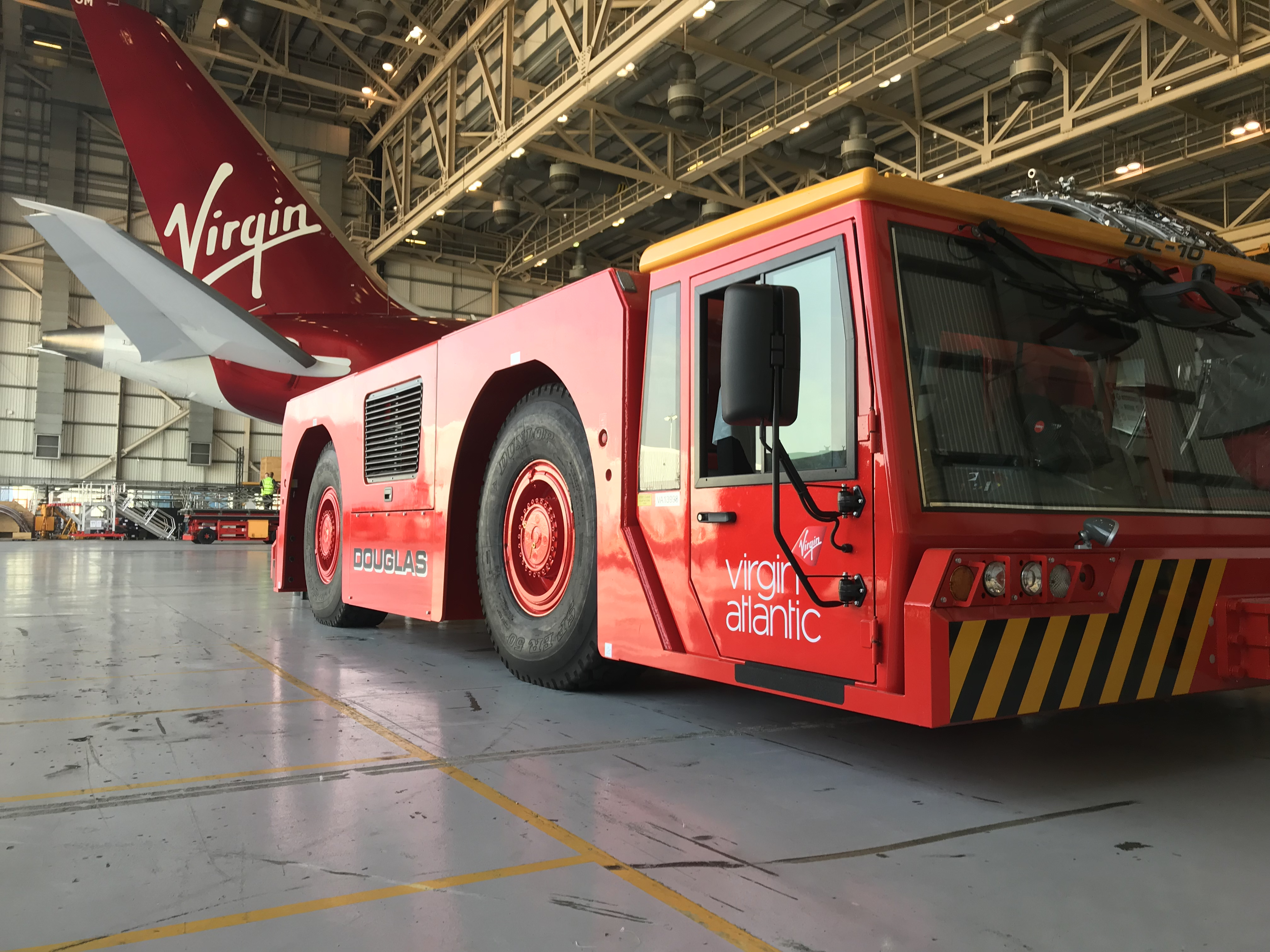 VIRGIN ATLANTIC TUG GRAPHICS