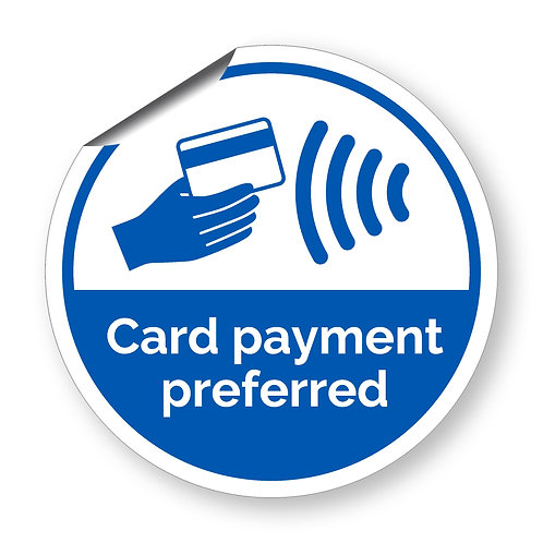 """""""Card payment preferred"""" roundel (Safety Collection)"""