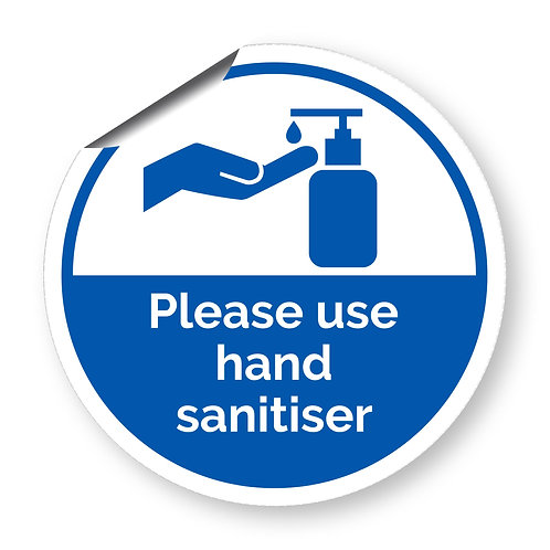 """Please use hand sanitiser"" roundel (Safety Collection)"