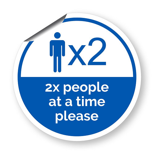 """2 people at a time"" roundel (Safety Collection)"