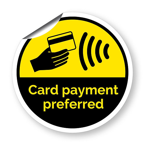 """Card payment preferred"" roundel (Chevron Collection)"