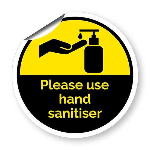 """Please use hand sanitiser"" roundel (Chevron Collection)"