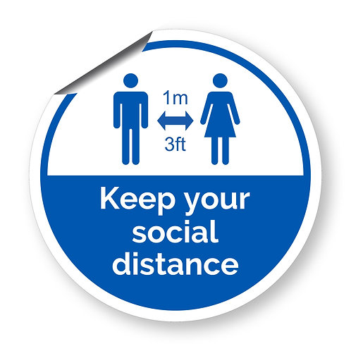 """""""Keep your social distance"""" roundel (Safety Collection)"""