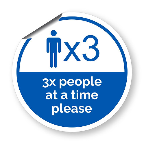 """3 people at a time"" roundel (Safety Collection)"