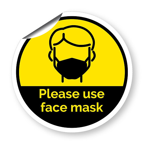 """""""Please use face mask"""" roundel (Chevron Collection)"""