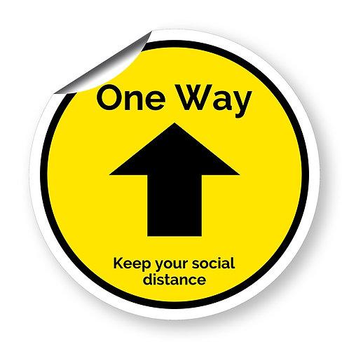 """One way"" roundel (Chevron Collection)"