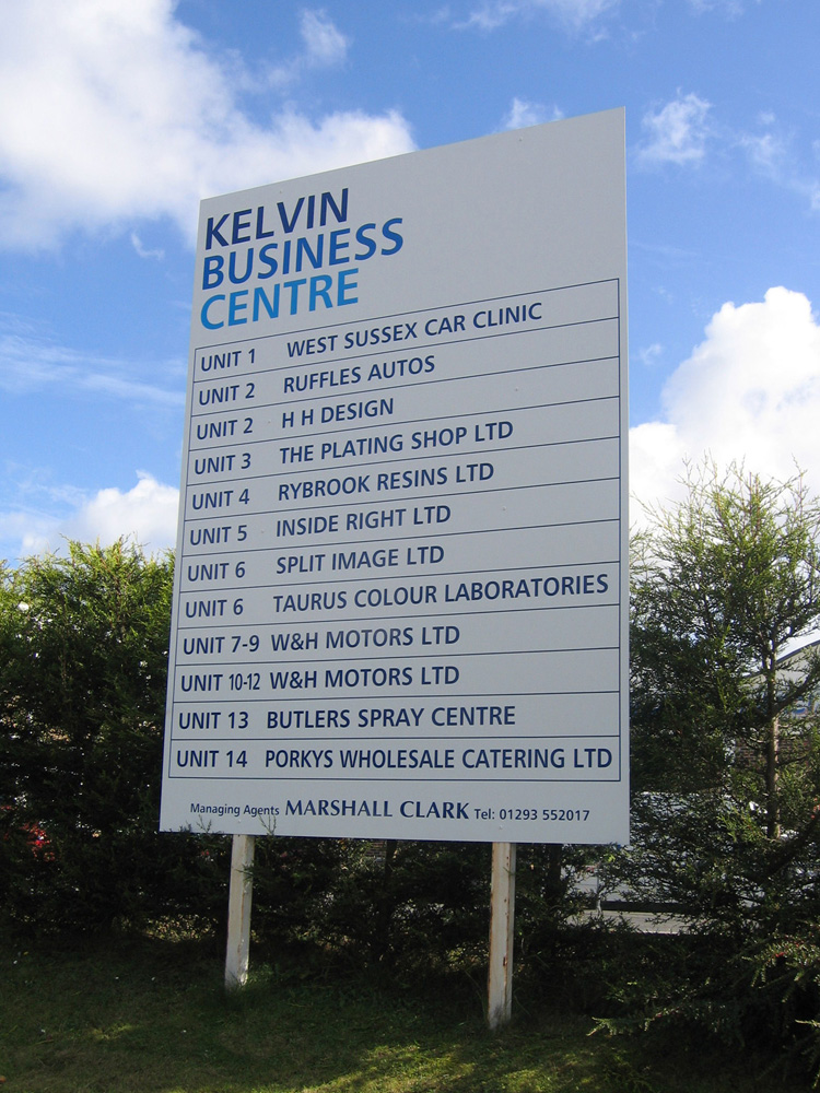 aluminium-sign-panel-with-vinyl-graphics-kelvin-business-centre