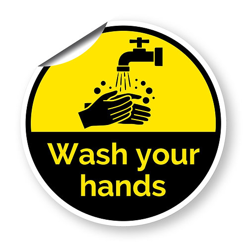 """Wash your hands"" roundel (Chevron Collection)"