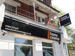 dibond-sign-panels-with-vinyl-graphics-set-in-black-ali-frame-kent-home-cinema