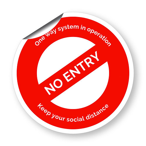"""No Entry - One Way System in operation"" roundel (Safety Collection)"