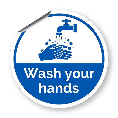 """""""Wash your hands"""" roundel (Safety Collection)"""