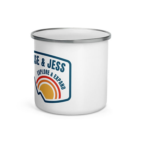 Explore & Expand Enamel Mug