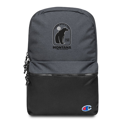 Wild & Free Montana - Embroidered Champion Backpack