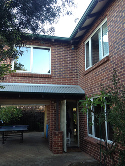 Front of home with UPVC Windows