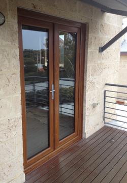 Golden Oak French Doors