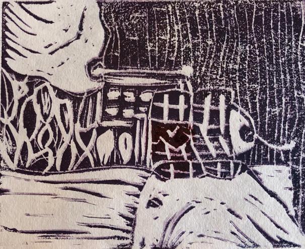 "Lauren Day Pudding Relief Print 8"" x 12"""