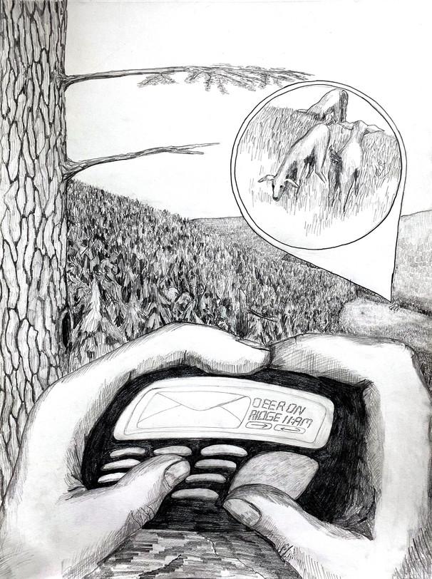 "Edward Hardebeck Digital Hunting-Gathering Pencil & Paper 24"" x 18"""