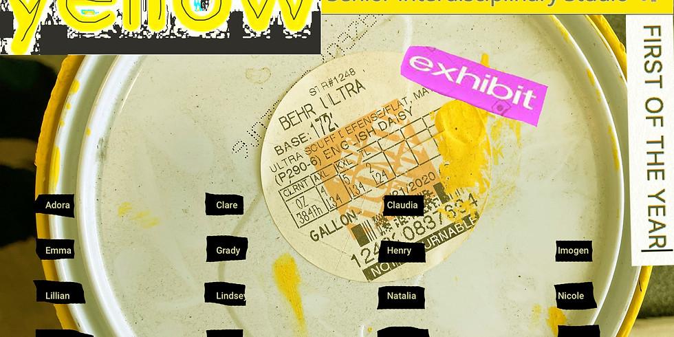 yellow Senior Interdisciplinary Studio Exhibit