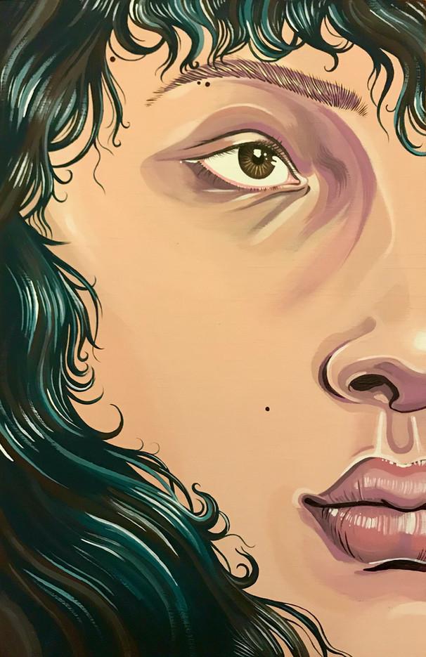 "Leah Hewlings Wave Acrylic on Canvas 18"" x 12"""