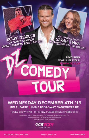 Dolph Ziggler Vancouver Event Poster