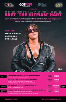Bret Hart 2019 BC Tour Poster