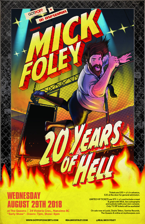 Mick Foley Nanaimo BC Event Poster August 2018