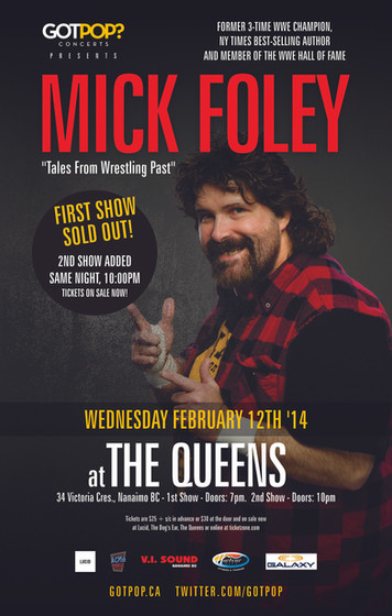 Mick Foley Nanaimo BC Event Poster February 2014