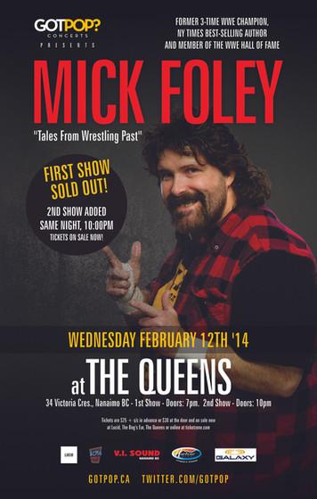 Mick Foley Nanaimo BC Event Poster February 2014