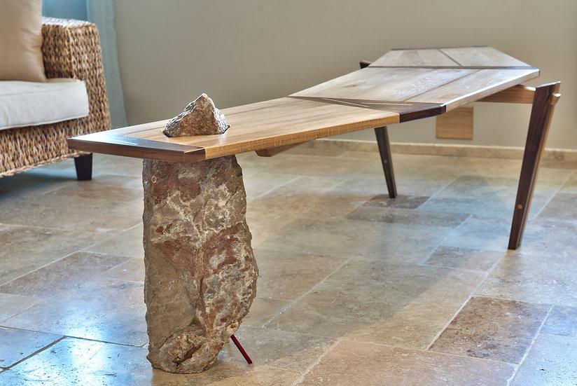 Table basse pierre et bois Design par MarKus Furniture